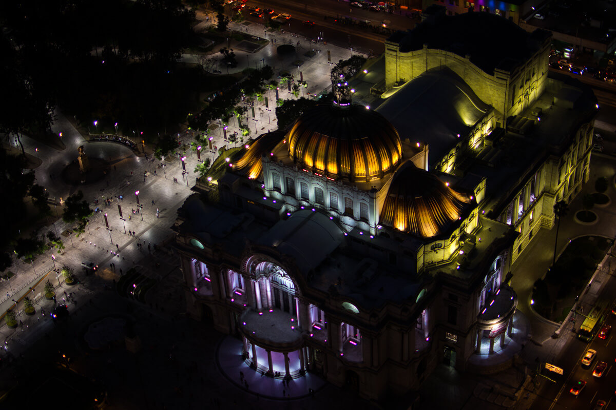 Bellas Artes during the night