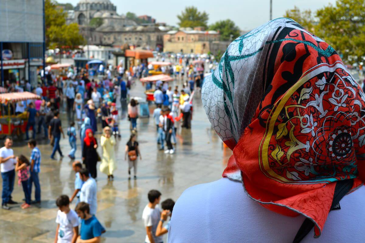 Istanbul, from headscarfs to shorts