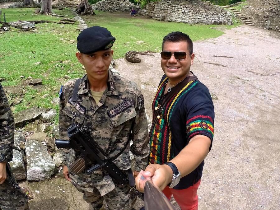Honduras military at Copan