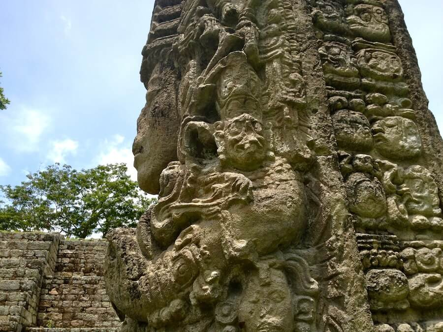 Mayan stela at Copan