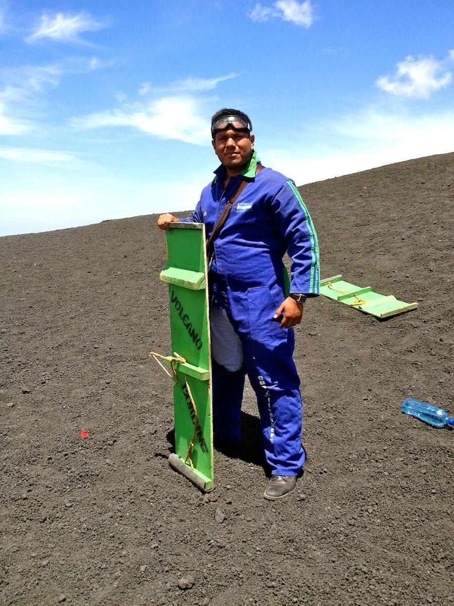 My Breaking Bad suit for Volcano Boarding