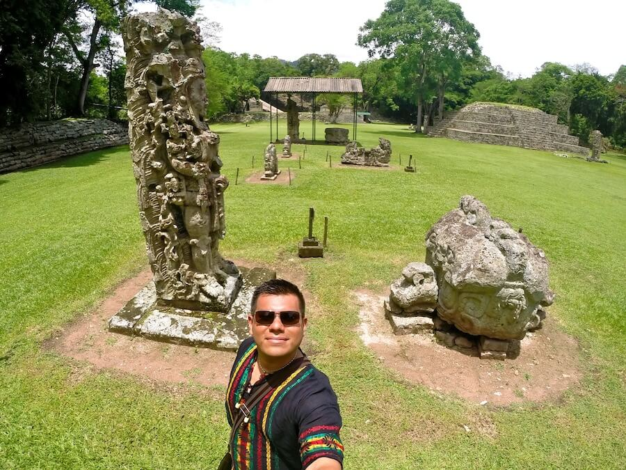 The main plaza of Copan