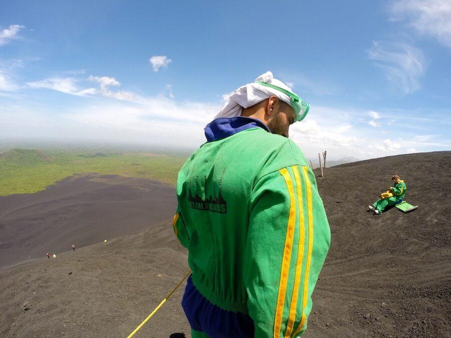 Volcano boarding with Quetzaltrekkers