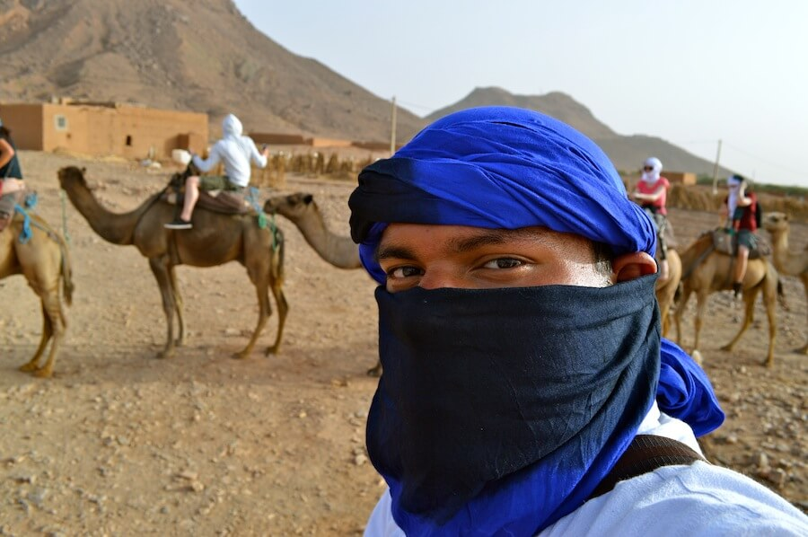 Camel selfie at Morocco