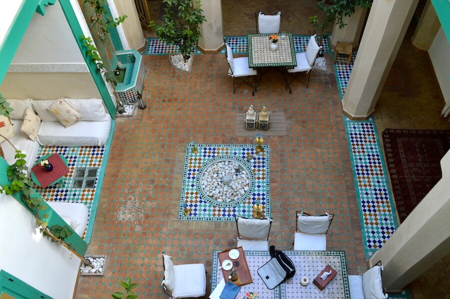 Courtyard of Riad Lak Lak