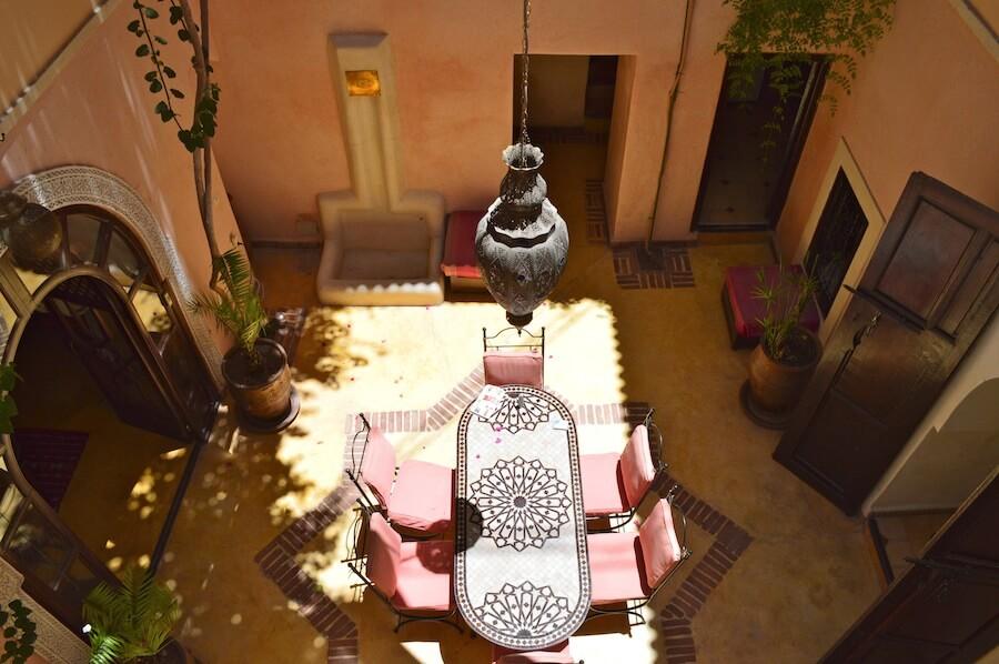 Courtyard of Riad Naila