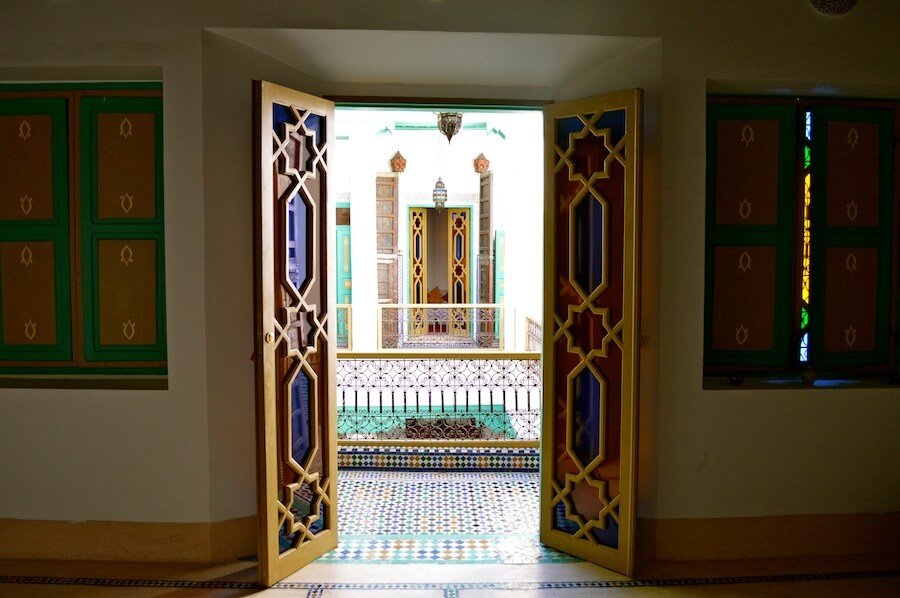 Doorway to Paradise in a Moroccan Riad