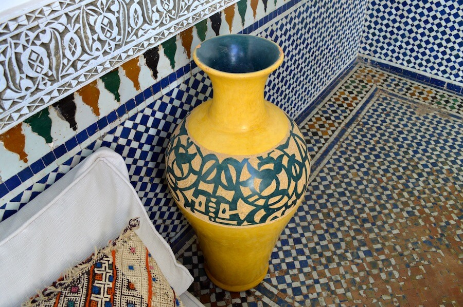 Islamic decorations at the Riad
