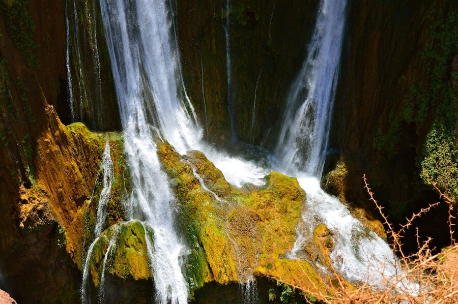 The breaking point of the Ouzoud Waterfalls