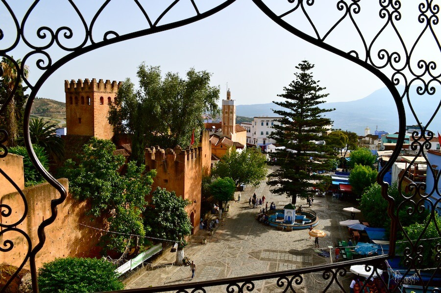 The main square of Chefchaouen