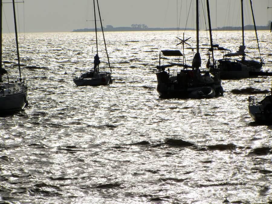 Fishing boats at Colonia de Sacramento