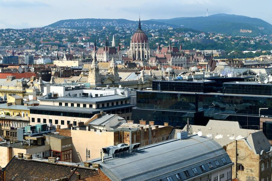 Budapest seen from St. Stephan Cathedral