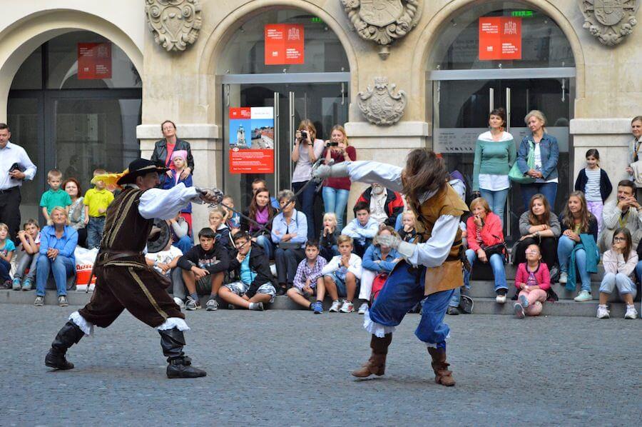 Medieval fencing at Bratislava