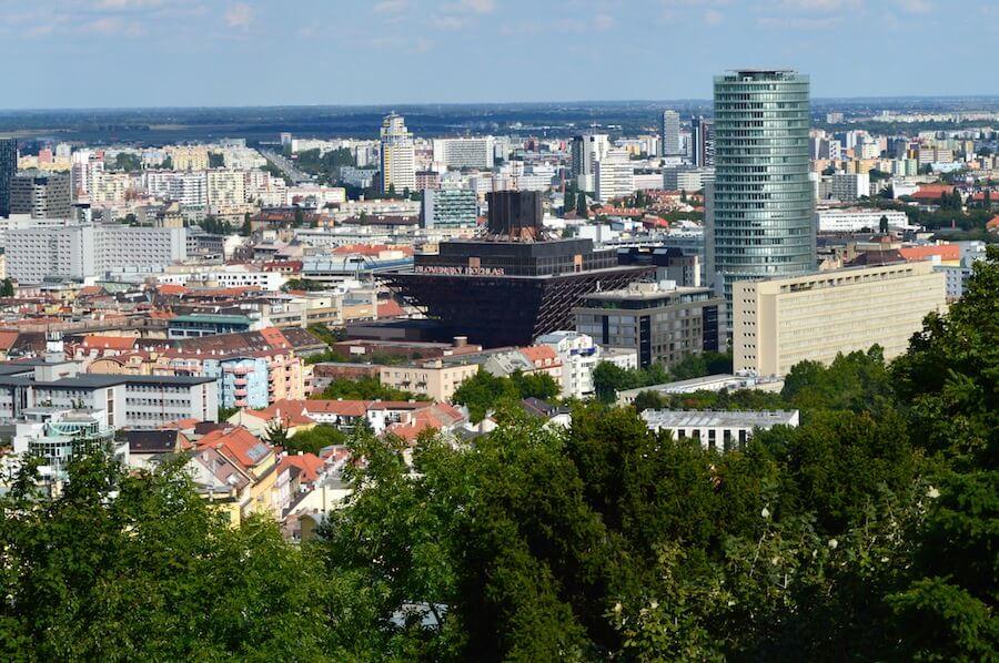 Modern Bratislava and the Inverse Pyramid