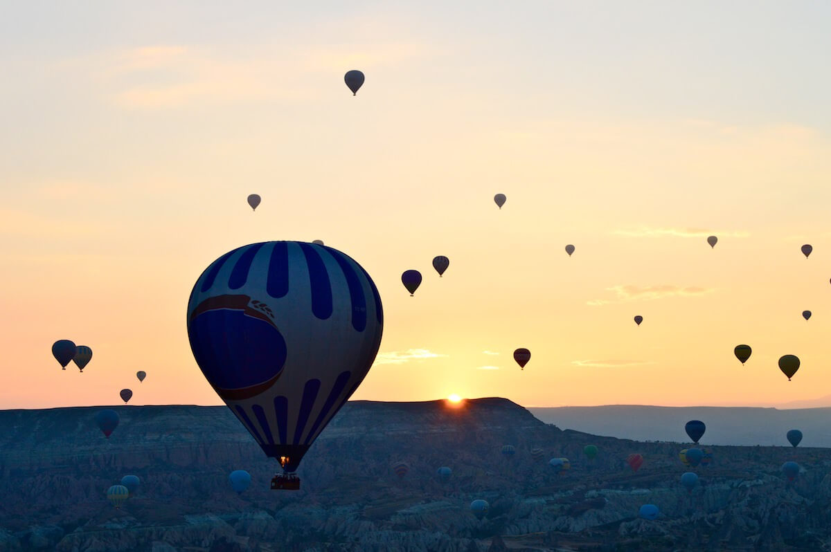 Sunrise at Cappadocia hot air balloon