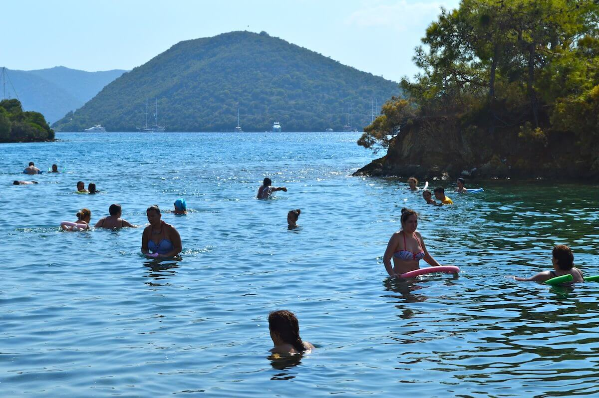 Swimming at Fethiye 12 Islands