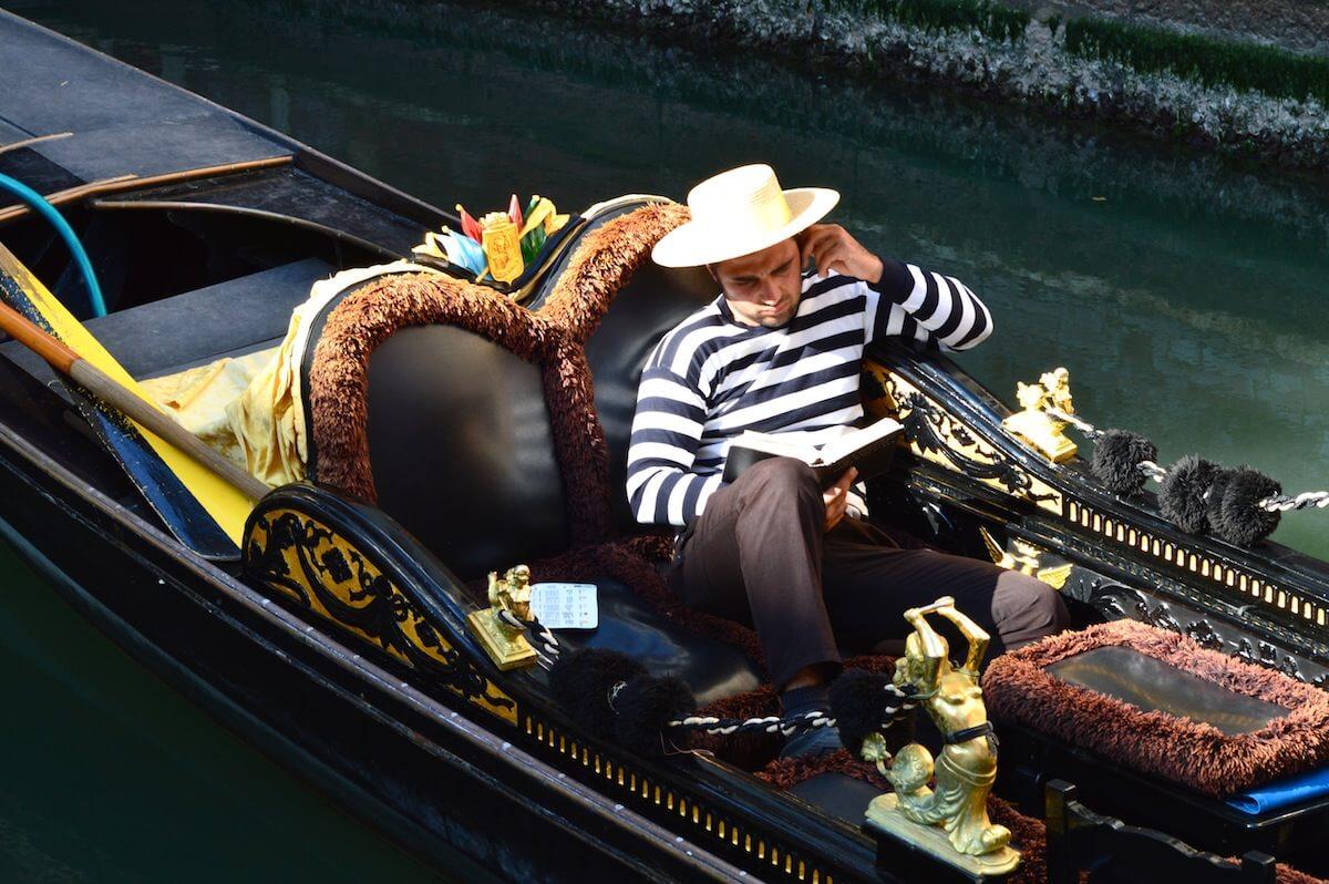 Gondola driver in Vencie