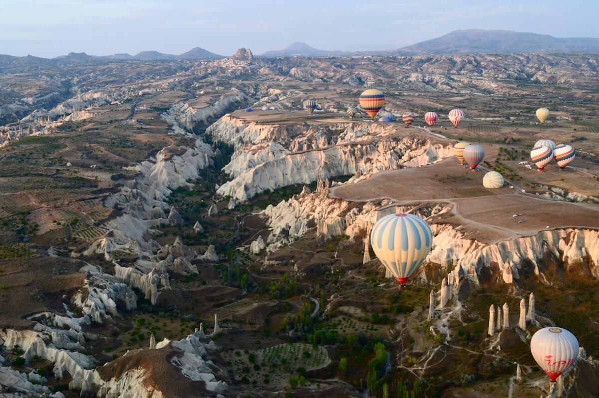Hot air Balloon Cappadocia Red Rose Valley