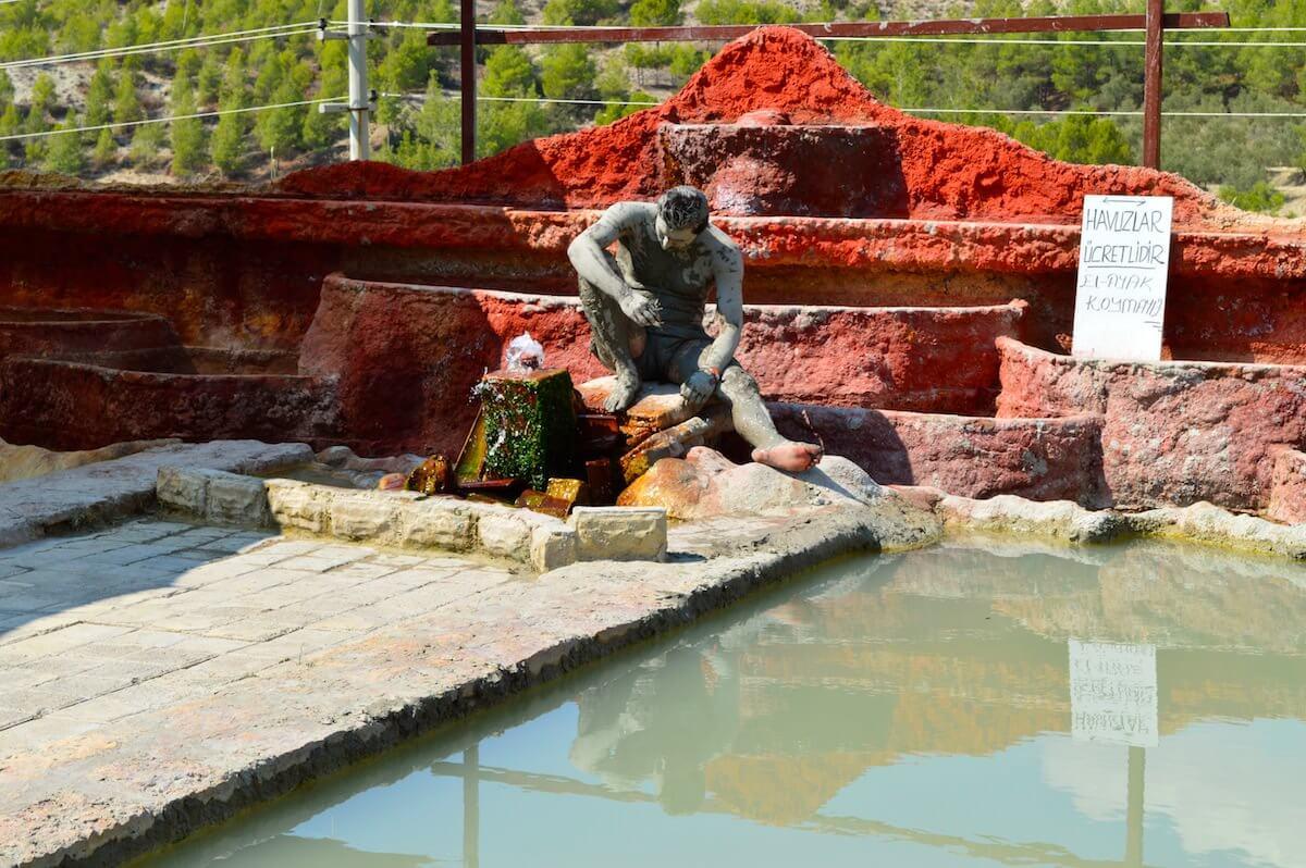 Mud bath at karahayit