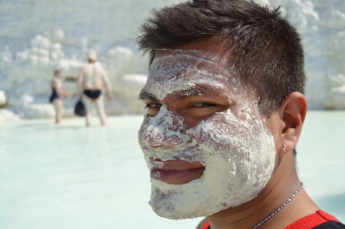 Mud face at Pamukkale
