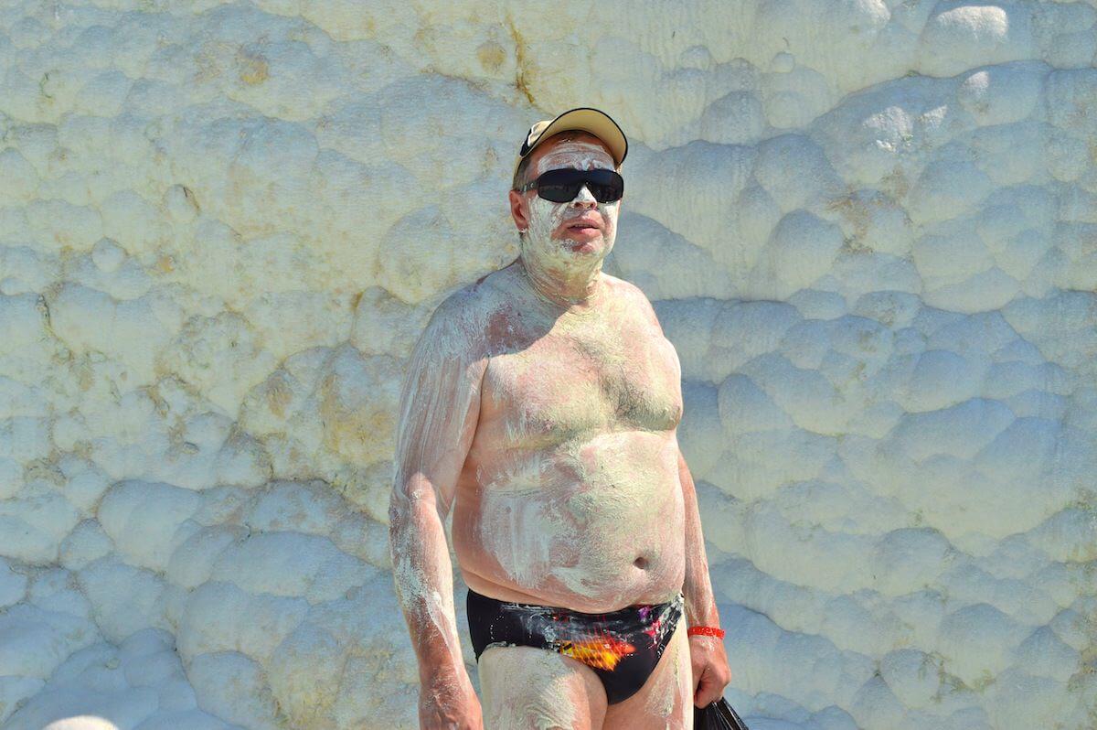 Russian man at Pamukkale
