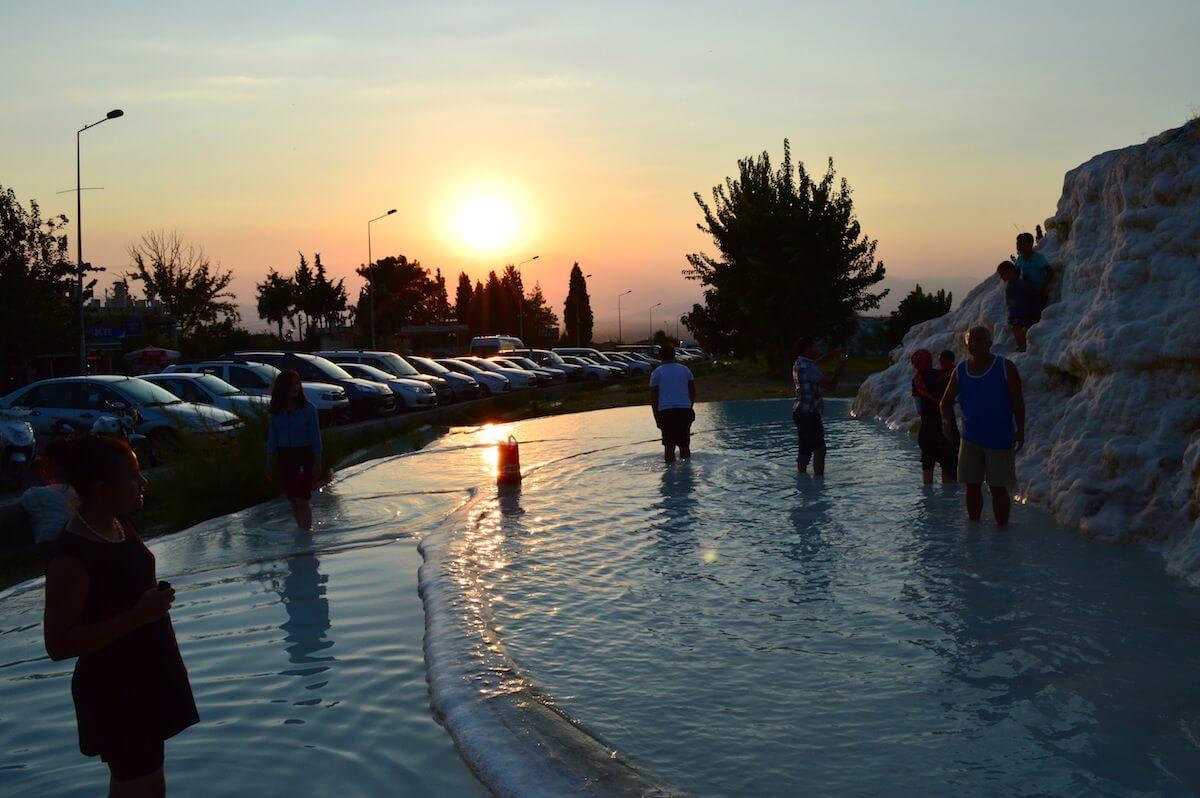 Sunset at Pamukkale