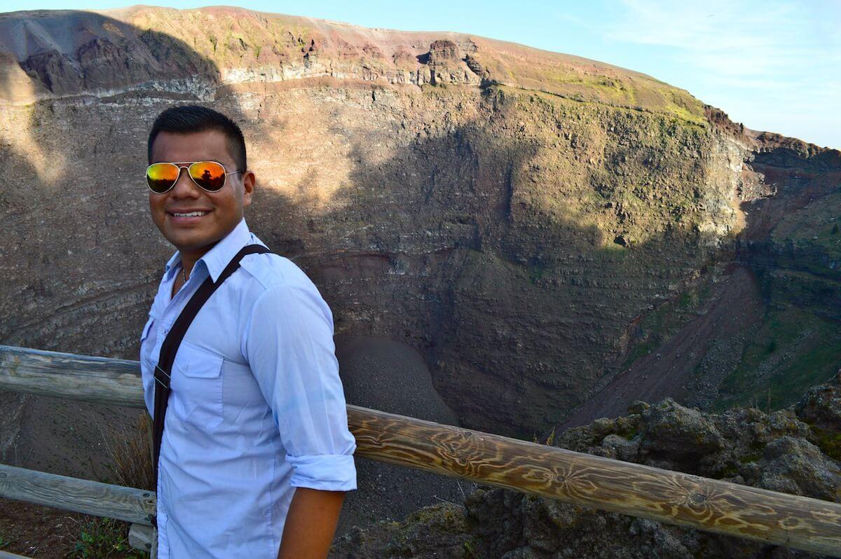 The Man of Wonders at Mt. Vesuvius