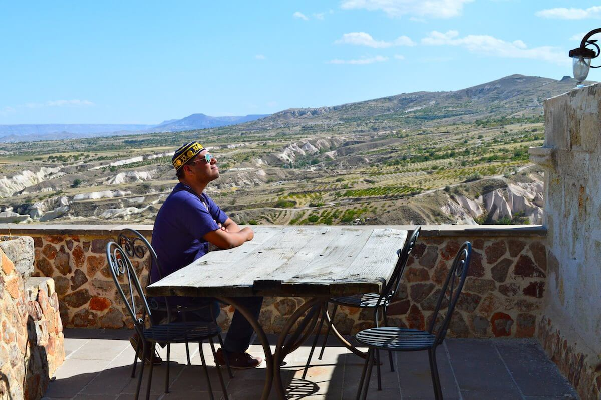 The landscape of Uchisar, Cappadocia
