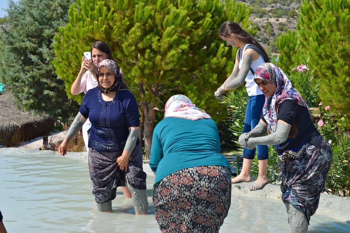Turkish women in Karahayit