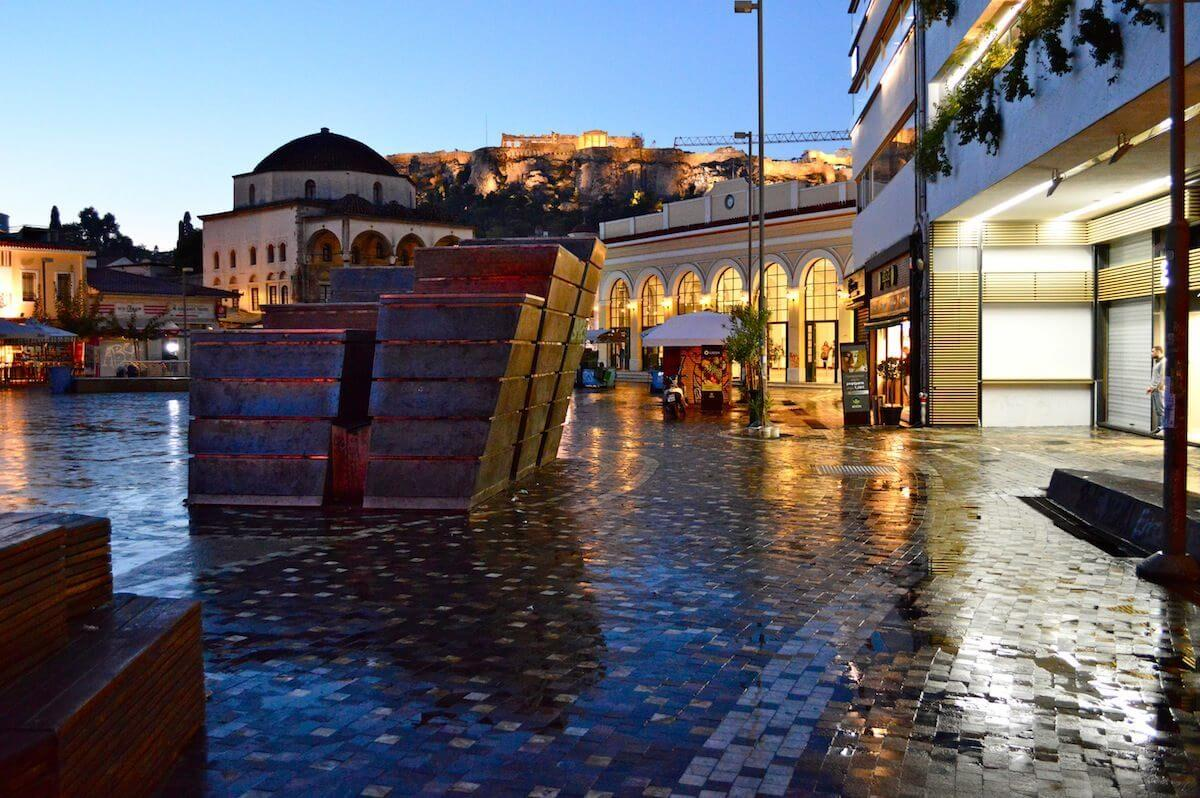 Dawn at Monastiraki Square, Athens