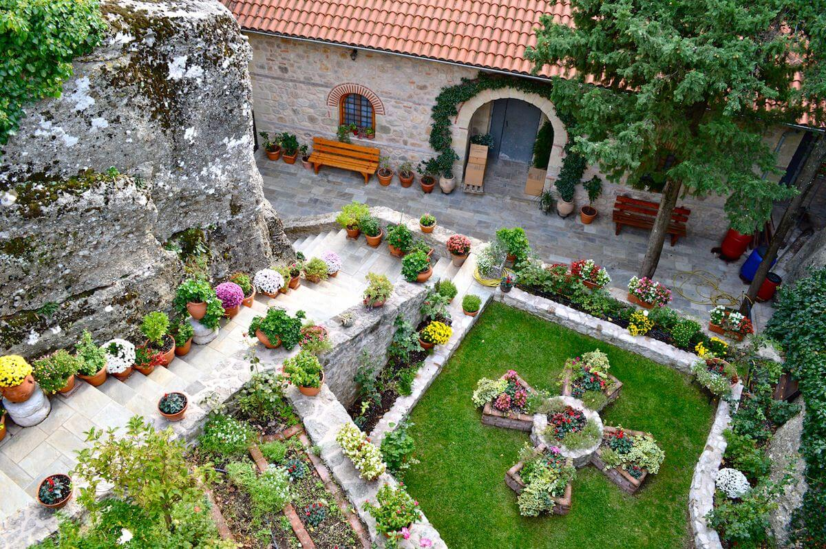 Garden of the Monasteries of Meteora