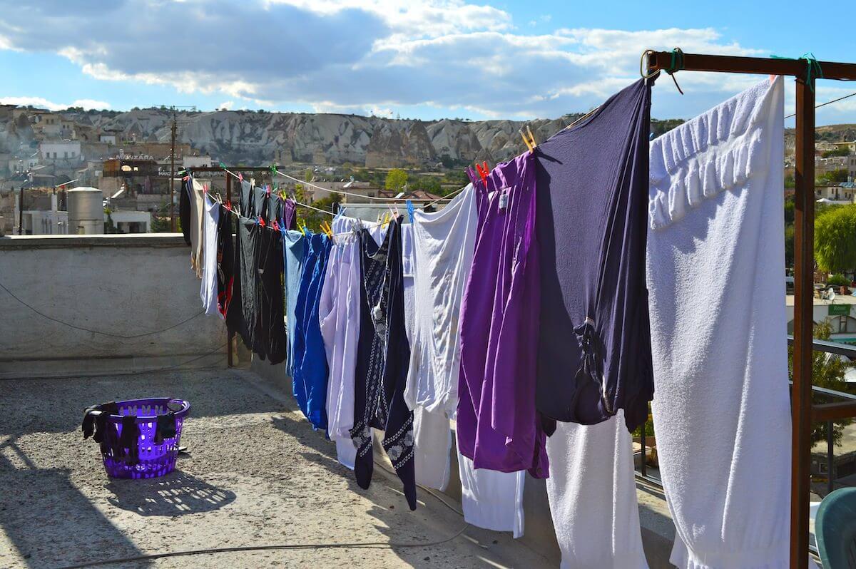 Laundry day at Cappadocia