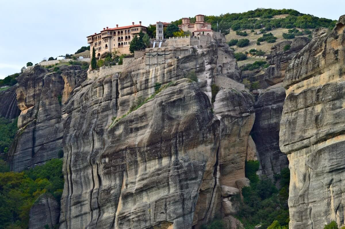 Limestone cliffs of Meteora