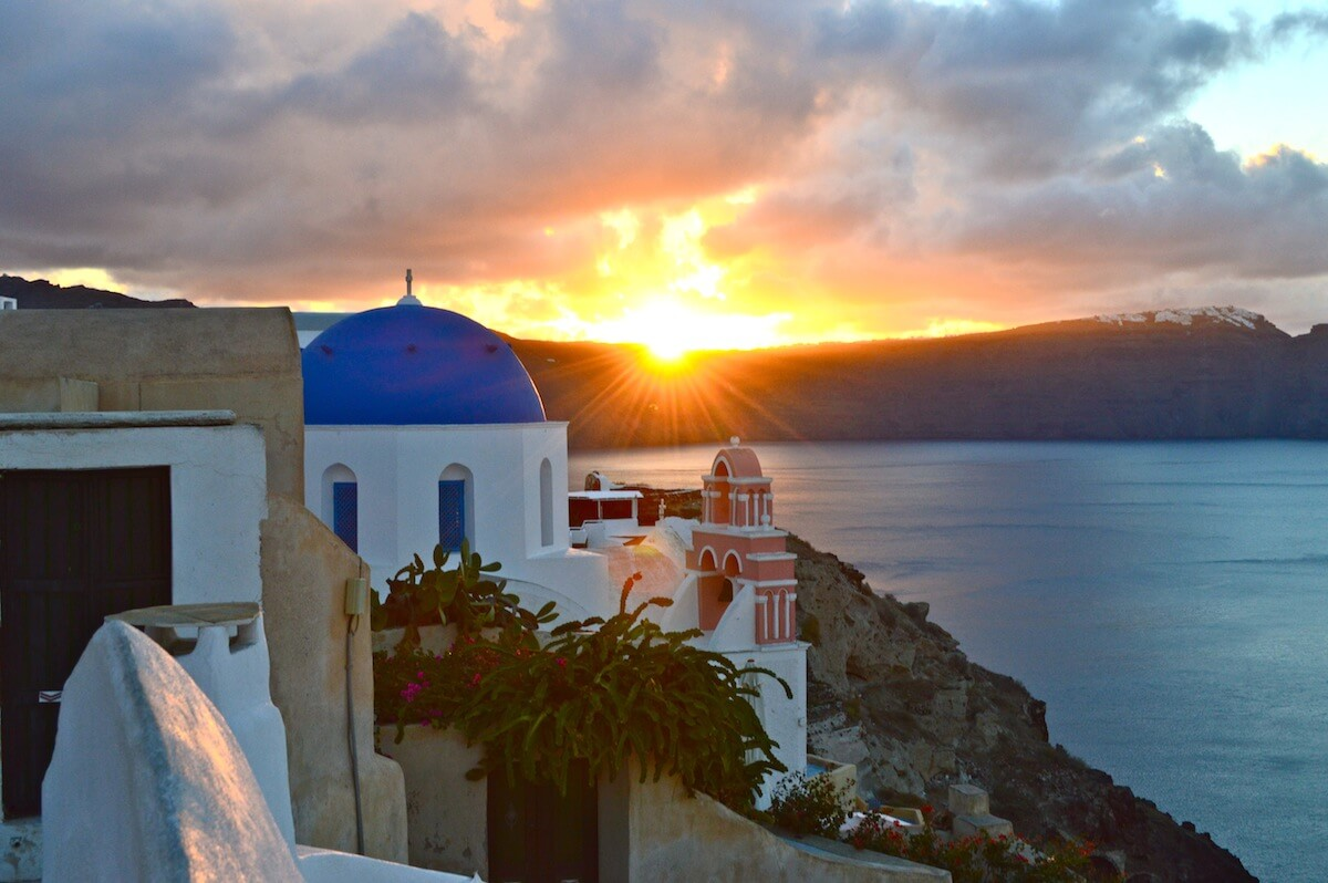 Sunrise at Oia, Santorini