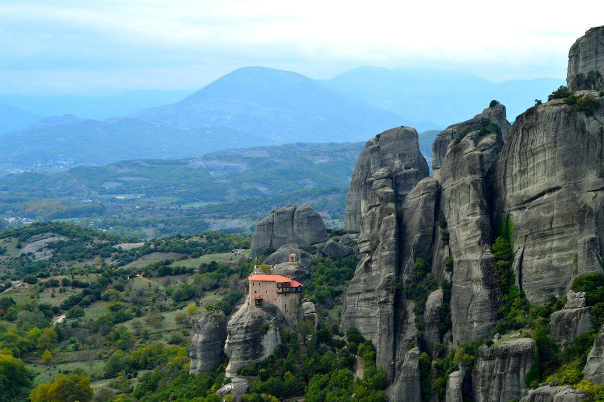 The landscape of Meteora