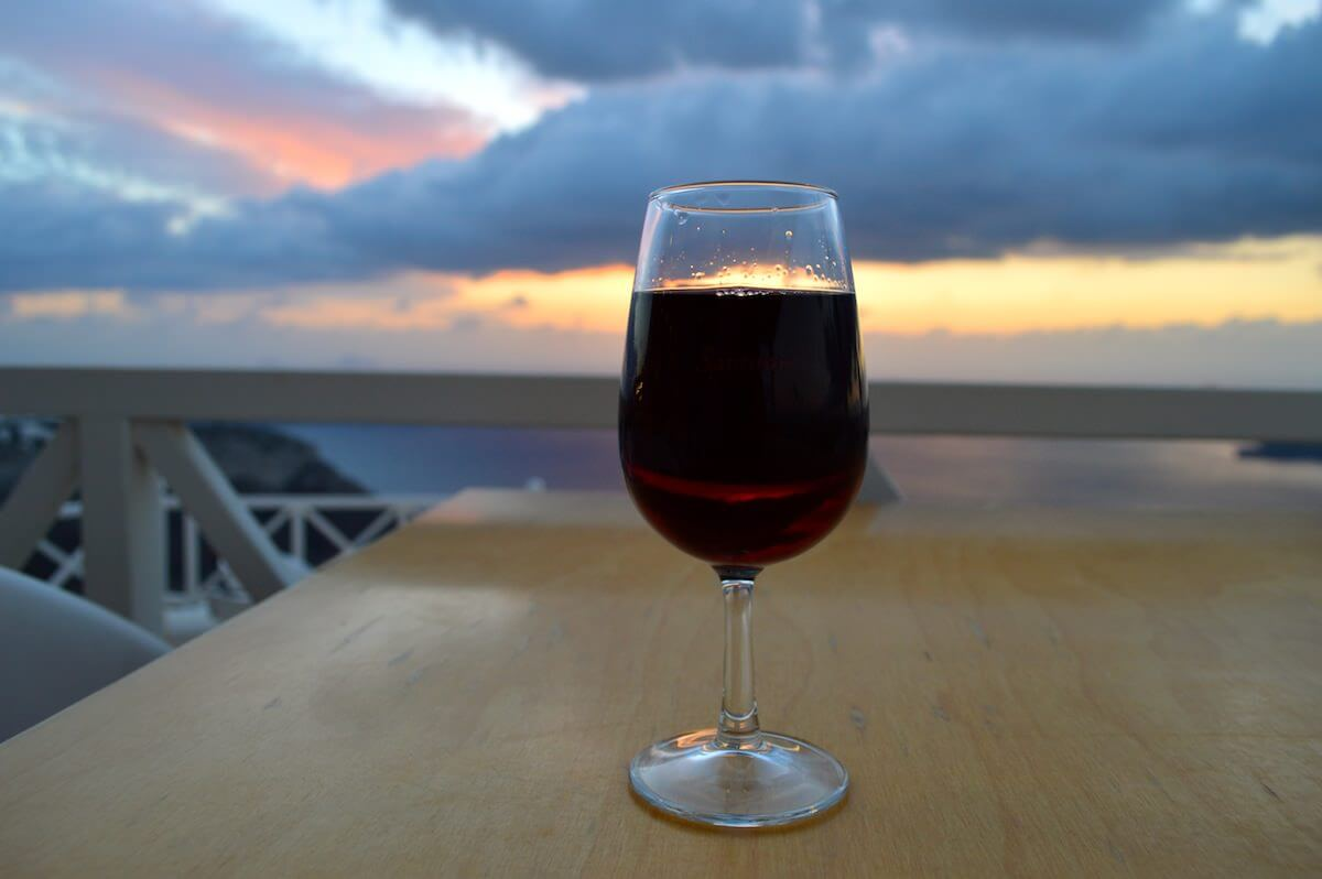 Wine at Santorini