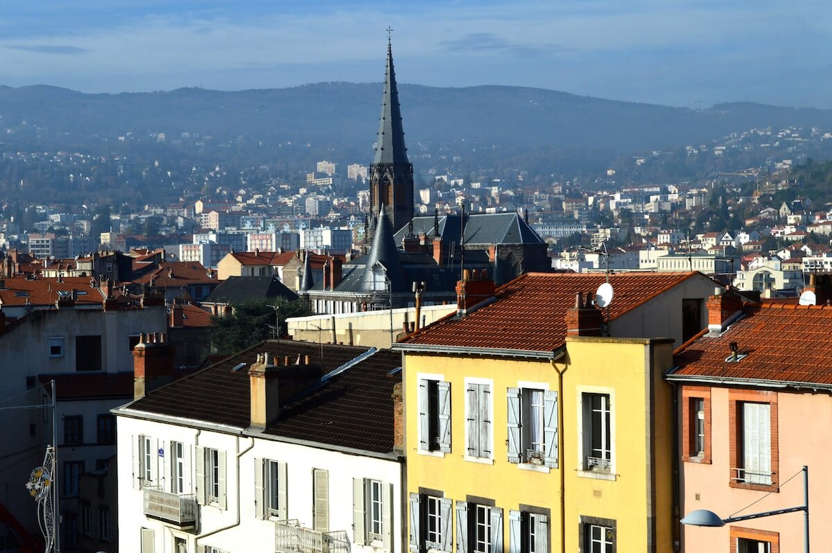 Clermont-Ferrand, a city in the middle of France