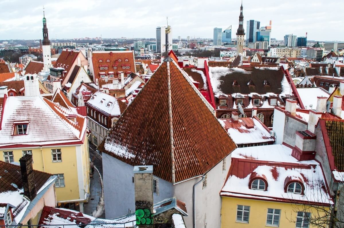 The orange rooftops of Tallinn