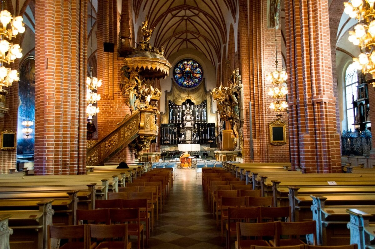 Inside of the Cathedral of Stockholm