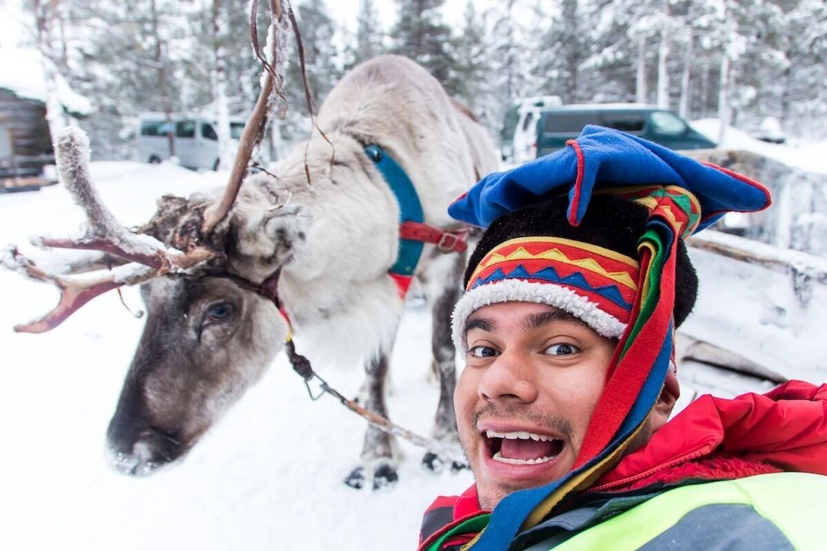 Sami Reindeer Selfie