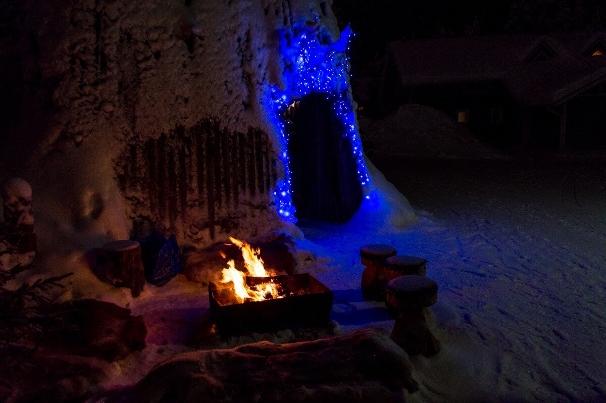 Traditional house of the Sami of Lapland