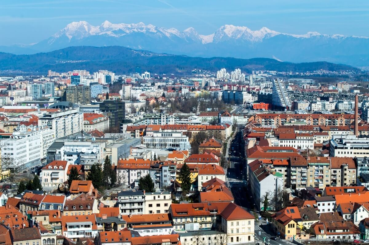 Ljubljana as seen from the Castle