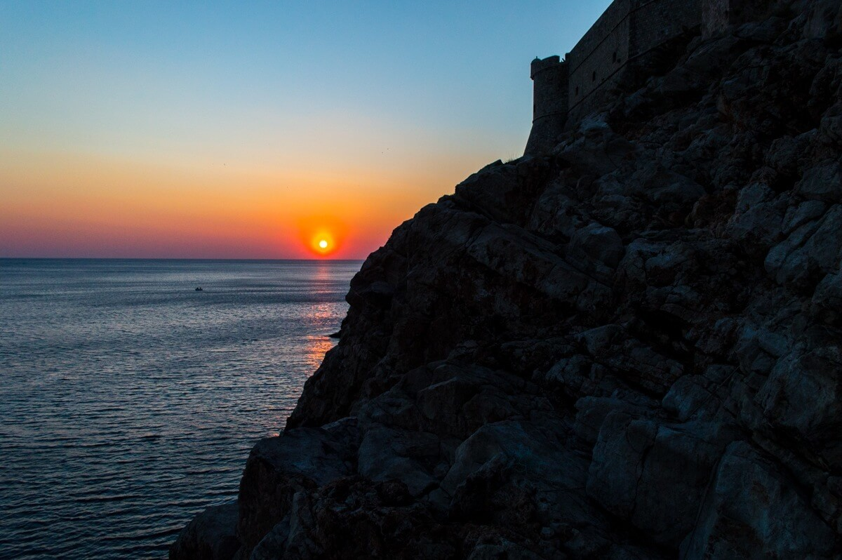 Sunset at Dubrovnik, Croatia