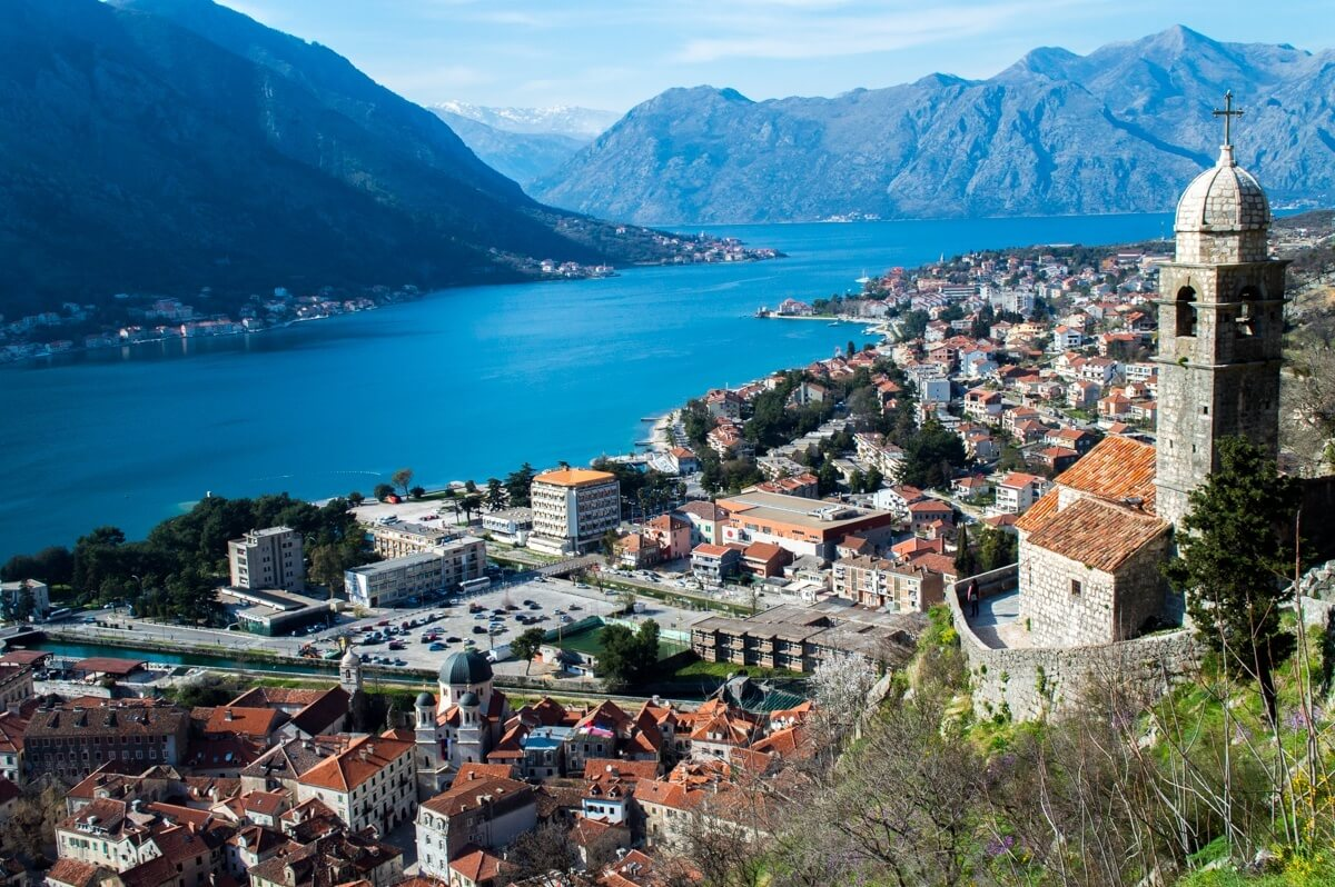 The Bay of Kotor as seen from the City Walls