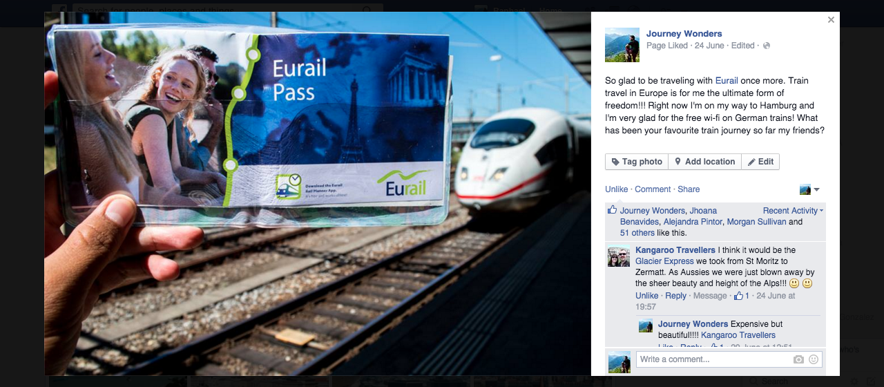 Example of Facebook Promotion