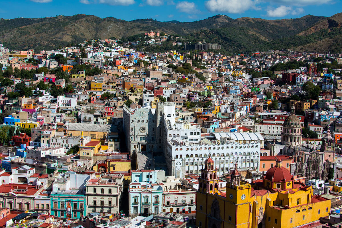 Panoramic view of Guanajuato from the Pipila