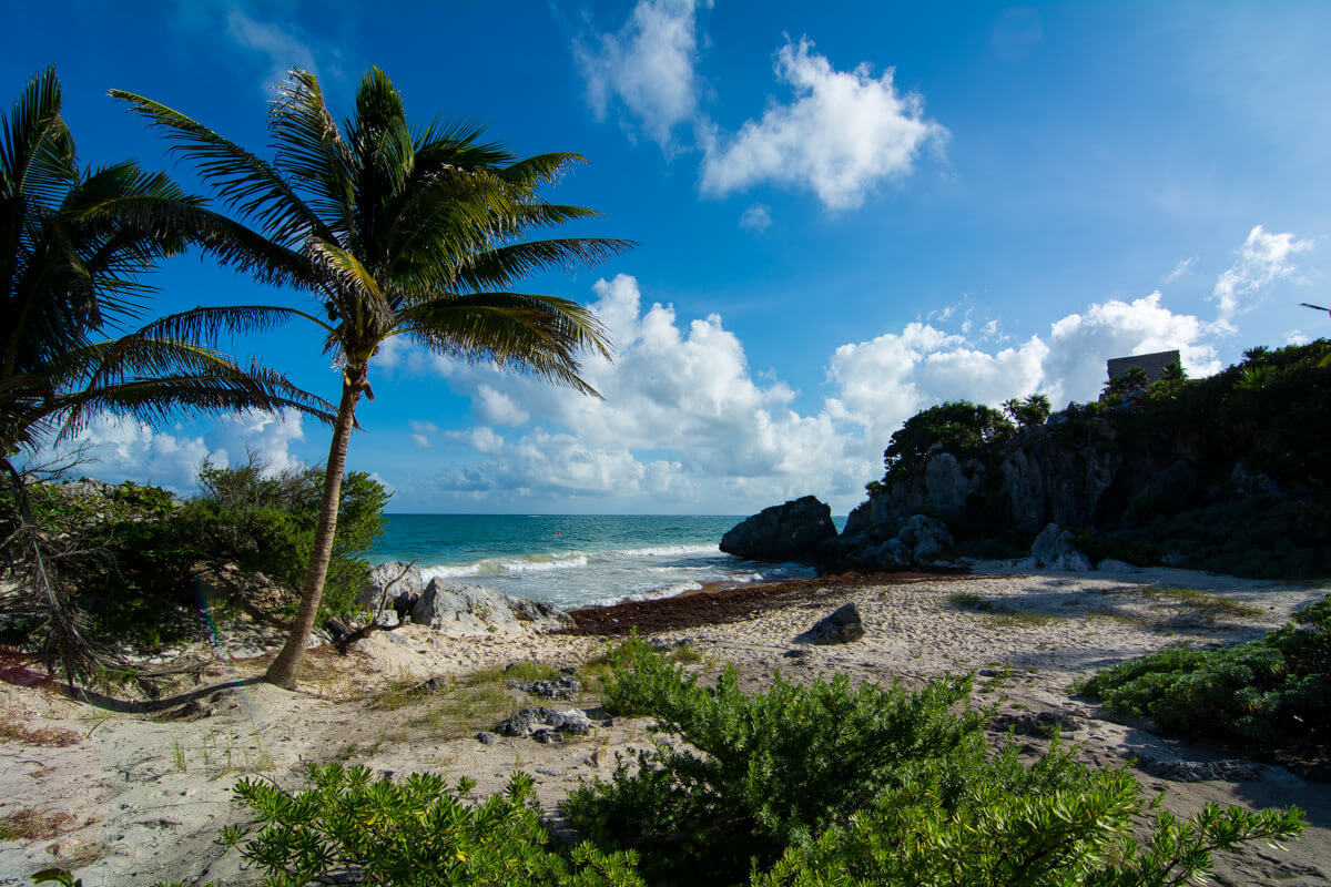The shore of Tulum