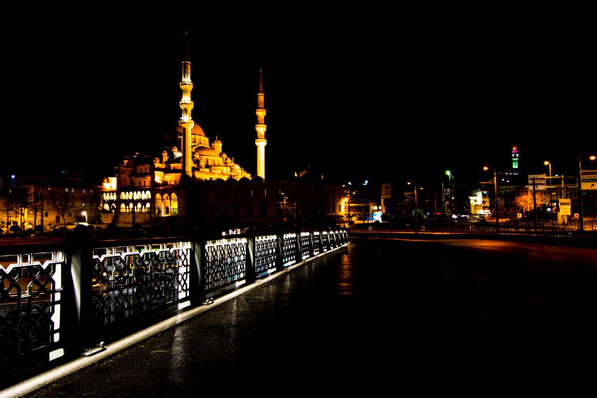 Istanbul, Turkey by night