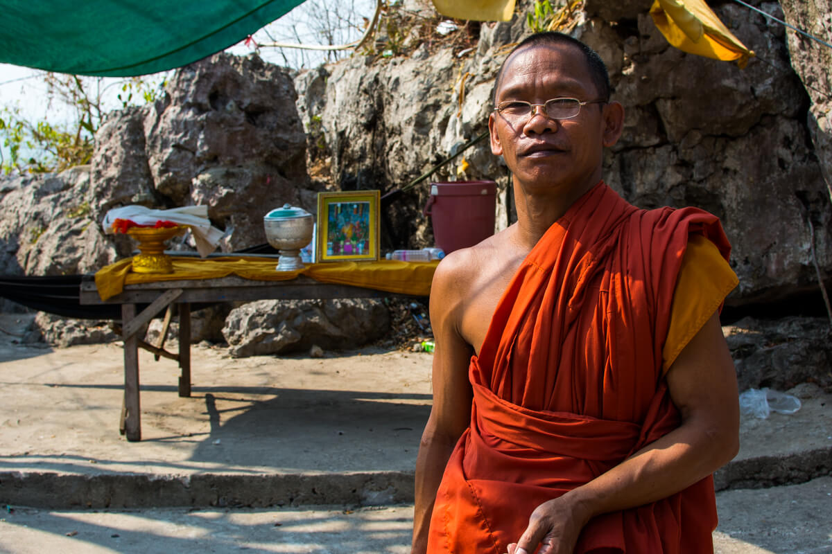 A Cambodian Buddhist Monk in Battambang
