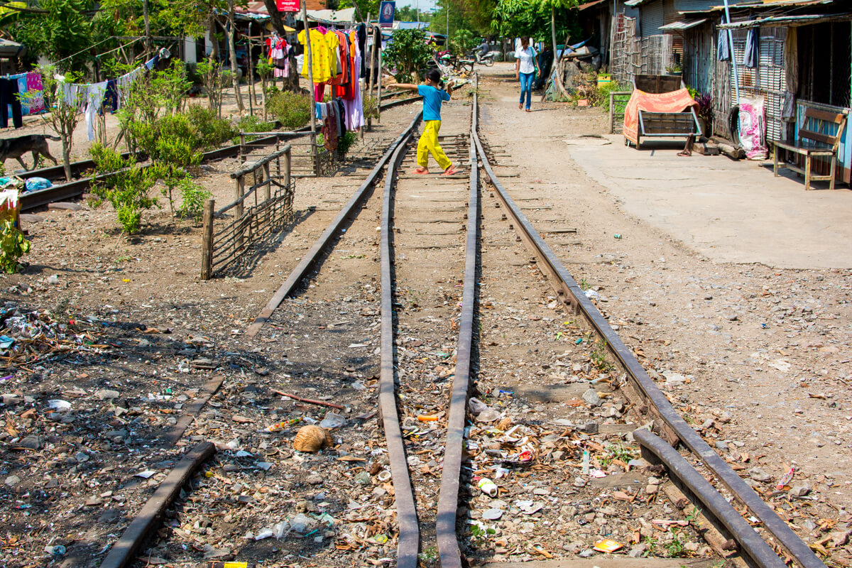 The abandoned train station in Battambang